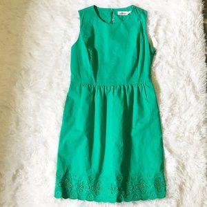 Vineyard Vines Green Scallop Dress Sz 6